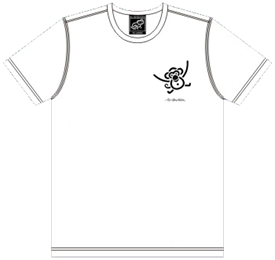 T-SHIRT WHITE WITH MONKEY