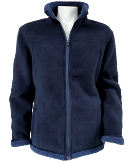 SOFT LAMB FLEECE LADY JACKET BLUE