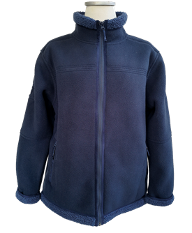SOFT LAMB FLEECE JACKET BLUE