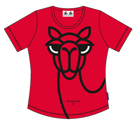 CAMEL RED LADY T-SHIRT