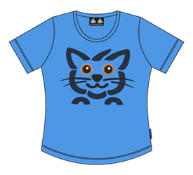 CAT HEAD LADY T-SHIRT
