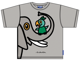 ELEPHANT WITH PARROT T-SHIRT