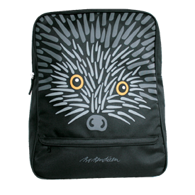 HEDGEHOG BACKPACK BLACK