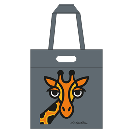 GIRAFFE SHOPPER GREY