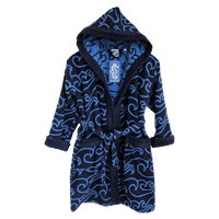 KIDS BATHROBE NAVY