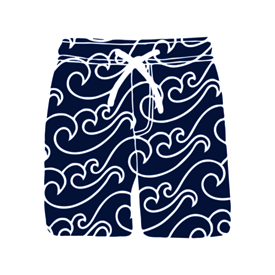 SWIM SHORTS NAVY/WHITE