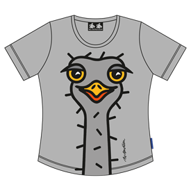 OSTRICH GREY LADY T-SHIRT