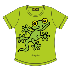 GECKO T-SHIRT LIME