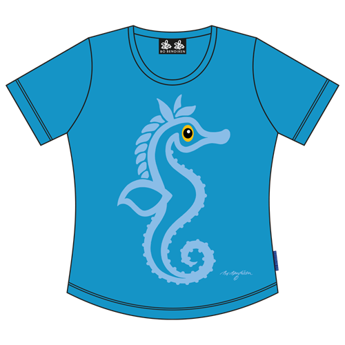 SEAHORSE T-SHIRT TURQUOISE
