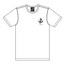 T-SHIRT WHITE WITH ANCHOR