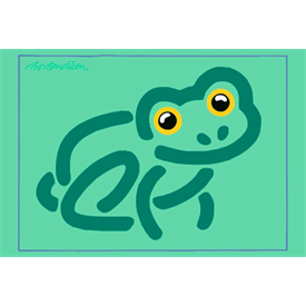 FROG GREEN POSTER</BR> 91 x 62 cm