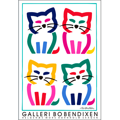 CATS POSTER </BR> 62 x 91 cm