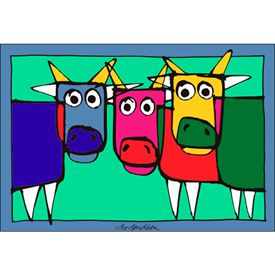 COWS POSTER</BR> 91 x 62 cm