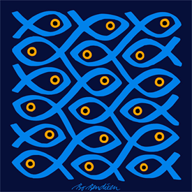 SUSHI NAVY POSTER</BR> 91 x 91 cm
