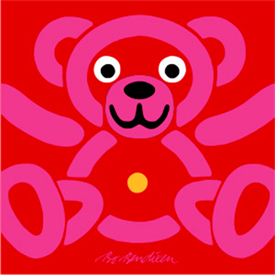 TEDDY RED POSTER</BR> 91 x 91 cm