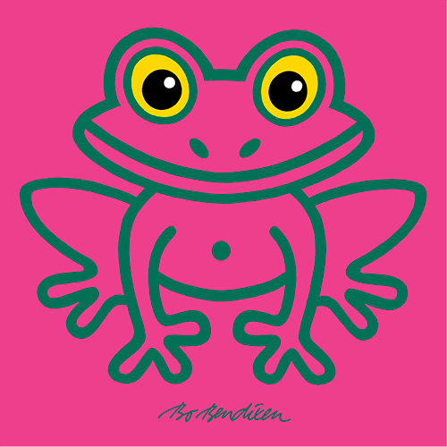 FROG PINK POSTER </BR> 91 x 91 cm