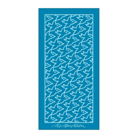 TOWEL BIRDS</BR>TURQUOISE</BR>50 x 100 cm