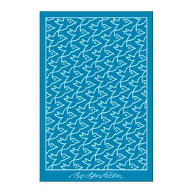 TOWEL BIRDS</BR>TURQUOISE</BR>100 x 150 cm