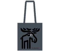 MOOSE SHOPPER  GREY - RECYCLED