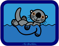 SEAOTTER TRAY 43 x 33 cm
