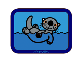 SEAOTTER TRAY 27 x 20 cm