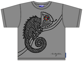 CHAMELEON GREY T-SHIRT