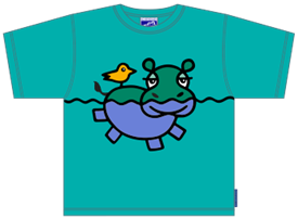HIPPO GREEN T-SHIRT