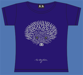 HEDGEHOG VIOLET T-SHIRT