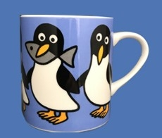 PINGUIN WITH FISH MUG