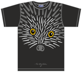 HEDGEHOG BLACK T-SHIRT
