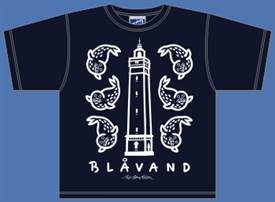 BLÅVAND KIDS - LIGHTHOUSE / SEALS NAVY T-SHIRT