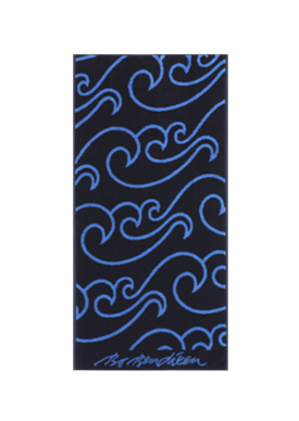 TOWEL NORTH SEA NAVY </BR> 50 x 100 cm