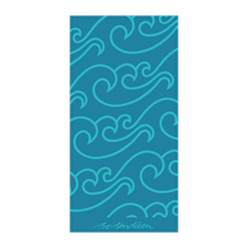 TOWEL NORTH SEA  GREEN    </BR>TURQUOISE 50 x 100 cm