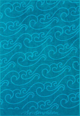 TOWEL NORTH SEA GREEN </BR>TURQUOISE 100x150 cm