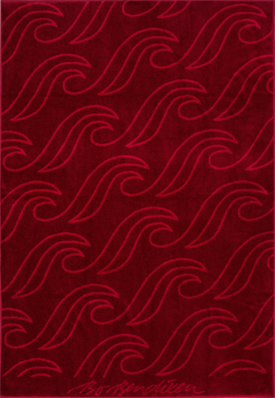 TOWEL WAVES BORDEAUX </BR> 100 x 150 cm