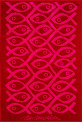 TOWEL RED SUSHI </BR>100 x 150 cm