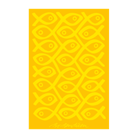 TOWEL YELLOW SUSHI </BR> 100 x 150 cm