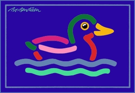 DUCKS POSTCARD NAVY