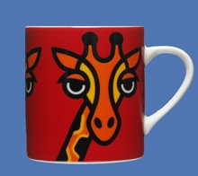 GIRAFFE RED MUG