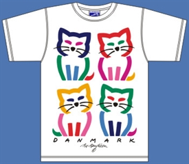 4 CATS WHITE T-SHIRT