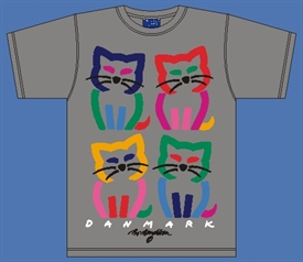 4 CATS GREY T-SHIRT
