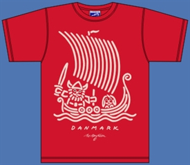 VIKING SHIP RED T-SHIRT