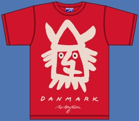 VIKING HEAD RED T-SHIRT