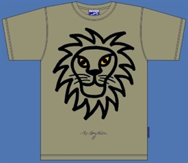 LION ARMY GREEN T-SHIRT