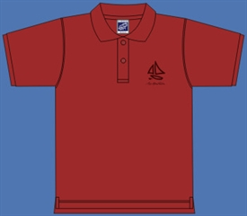 SAIL BOAT POLOSHIRT RED