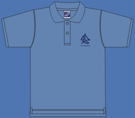 SAIL BOAT POLOSHIRT LIGHT BLUE