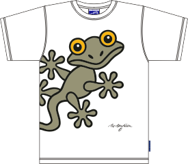 ARMY GECKO WHITE T-SHIRT