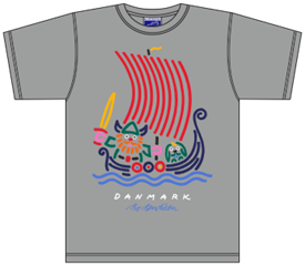 VIKING SHIP GREY T-SHIRT