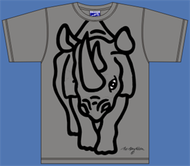RHINO GREY T-SHIRT