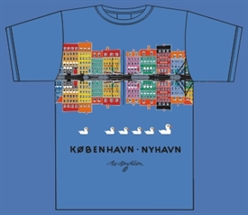 NYHAVN REFLECTION BLUE T-SHIRT